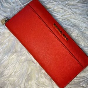 Red Continental Michael Kors Wallet